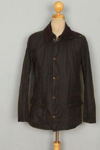 BARBOUR Ashby WAXED Jacket Olive Size Medium